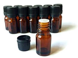 Wholesale Oil Dispenser Wholesaler - Mini 5ML 10ML 15ML 30ML Essential Oil Amber Glass Bottle with Euro Dropper Dispenser With Black Cap