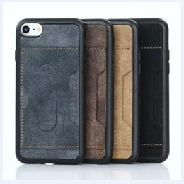 Wholesale Iphone Hold Case - Luxury PU Leather Surface Soft TPU Hand Hold Strap Standing Function Back Cover Case For iPhone 6 6s 7 7 Plus