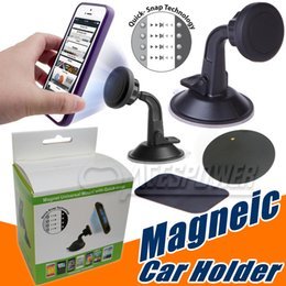 Wholesale Iphone Suction Cups - Car Mounts Phone Holder Air Vent Magnetic Universal Holders For Iphone7 Plus Iphone 6 Samsung Galaxy S8 S7 Edge car suction cup