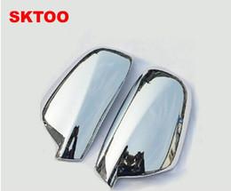 auto adhesivos 4x4 Rebajas Ajuste Para 2004-2012 Peugeot 307 CC SW 407 Puerta Lateral Ala Espejo Cromo Cubierta Trasera Accesorios de la tapa 2 unids por Juego Coche Stying