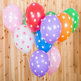 Wholesale Dot Ballons - 12 Inch Latex Balloon Children Party Decoration Birthday Party Wedding Decoration Ballons Polka Dot Balloons Classic Toy Party Supplies