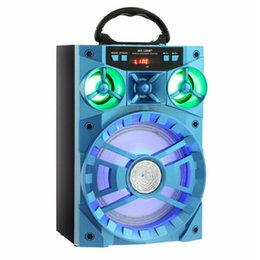 Wholesale Portable Units - Mobile Multimedia MS-188BT Portable Multi-functional Bluetooth Speaker Big Drive Unit Bass Colorful Backlight FM Radio Support AUX USB