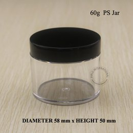 Wholesale Hand Cream Jars - 60ml 2oz Empty Plastic Jars And Lids Cosmetic Packaging Containers For Makeup Hand Cream Containers Pot With Free shipping 10pcs