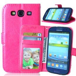 Wholesale Galaxy S I - Flip Case For Samsung Galaxy S 3 iii S3 Siii Neo i9300 i 9300 i9301 Duos i9300i GT-i9300 GT-i9301 GT-i9300i i9305 GT-i9305 Cover