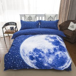 Wholesale duvet cover brush - Wholesale- 2016 fashion moon bedding set queen size duvet cover bed sheet pillow cases 4pcs bed linen set,brushed,comfortable