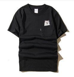 Wholesale High Hip Shorts - Sponge mice RIPNDIP T Shirt Men Wome 1:1 High Quality Cartoon Cat T-shirts Hip Hop RIPNDIP T Shirt Summer Tops tees