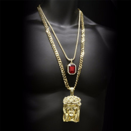 Canada Ensemble de bijoux Hip-hop Pendentif en forme de couronne couronnée par Jésus supplier jesus head jewelry Offre
