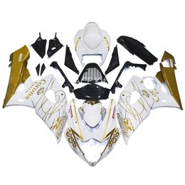 Wholesale Motorcycle Fairings White - 5 free gifts New ABS motorcycle Fairing Kits 100% Fit For SUZUKI GSXR1000 K5 2005-2006 GSXR 1000 K5 05-06 nice white and gold nice 181
