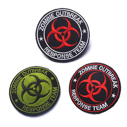 Wholesale Zombie Patches - Zombie Outbreak Response Team Patch Morale Tactical Patches Hook & Loop Embroidery Badge Army Armband Badge 8 CM free ship