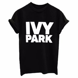 Wholesale Funny Letter - IVY PARK Women Men T shirt Cotton Casual Funny Loose White Black Tops Tee Hipster Street 2017 New