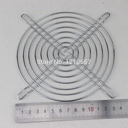 Wholesale Iron Nets - Wholesale- 2Pieces LOT Fan Protection Net Grille 14CM 140mm Fan Iron Mesh Computer Case Fan Safety Net