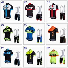 Wholesale Mens Cycle Jersey - ALE 2017 TEAM cycling jersey bike shorts set Ropa Ciclismo quick dry ktm mtb cycling wear mens bicycle Maillot Culotte