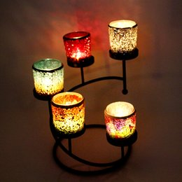 Wholesale Wholesale Wedding Candelabras - Candle Holder Glass Votive for Wedding Birthday Holiday Home Decoration by Royal Imports Mosaic Glass Tealight Votive
