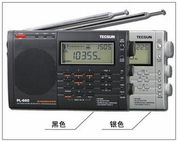 Wholesale Radio Controlled Goods - Wholesale-T-ecsun PL-660 full-band digital tuning stereo clock-controlled charging Desheng Radio good quanlity