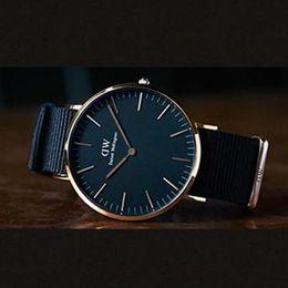 Wholesale Ladies Waterproof Watch Blue - Daniel watches Top Brand Luxury Quartz watch men Business Black watch clock male Waterproof men's women's ladies Military lady dress watch