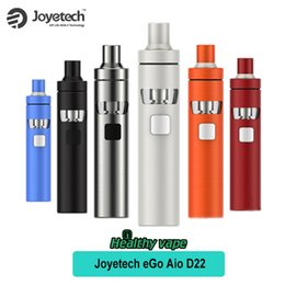 Wholesale Ego W Case - Original Joyetech ego AIO D22 Starter Kit 1500mAh 2ml Tank ego AIO All In One w Silicone Case Cover