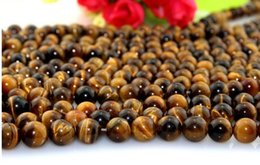 Wholesale Tiger Stone Accessories - Hot sale new Tiger eyes agate beads 8mm Natural stone loose beads beaded DIY jewelry accessories fit necklace bracelet material nice bead