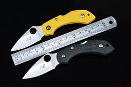 Wholesale Lock Blade Pocket Knives - FREE SHIPPING NEW 440 Blade ABS handle Back Lock Pocket Folding knife H1