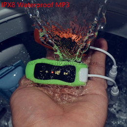Wholesale Cycling Radio - Wholesale- 16GB Mini Clip Sport waterproof mp3 player music earphones IPX8 for swimming surfing Diving cycling hiking * FM radio W262 W273