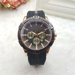 Wholesale Mens Watches Cheap Fashion - Cheap Mens Casual Watches Luxury Brand Quartz Silicone Strap Automatic Date Wristwatches For men male watch Clocks Relogio Masculino Wtach