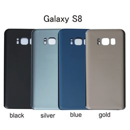 Wholesale Door Glass Sticker - 30PCS Original Battery Door Back Housing Cover Glass Cover for Samsung Galaxy S8 G950 G950P S8 Plus G955P with Adhesive Sticker
