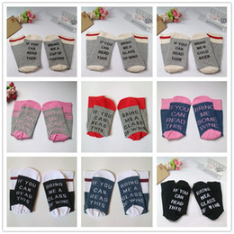Wholesale Cotton Coffee Sock - 18 colors IF YOU CAN READ THIS Bring Me a Glass of Wine Beer Coffee mens compression socks Christmas pink socks for men women