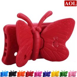 """Wholesale Butterfly Shocks - Butterfly Kids Shock Proof Foam EVA Handle Protective Stand Cover Case for 7"""" Samsung Galaxy Tab 3 Lite T110   Tab 4 T230 T231"""