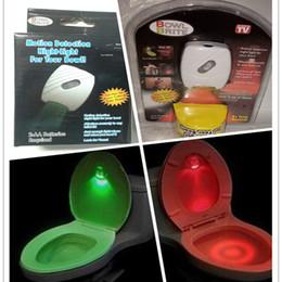 velas por atacado diretas Desconto Criativo Luz Sensível Novo LED Luz Do Toalete Vermelho Verde Toalete Luz 8 Cor LED Indução Sanita Lâmpada