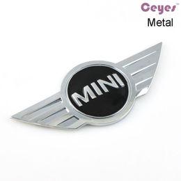 Wholesale Emblem Metal 3d - Car Styling 3D Metal Logo Stickers for bmw accessories Mini copper clubman R50 R51 R56 Car Emblems Badge Car Stickers