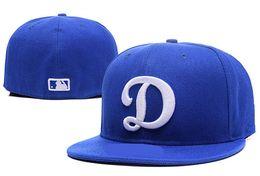 Wholesale Dodger Caps - 2017 Arrival Men's Los Angeles Dodgers Fitted Hats Embroidered Big D Logo Sport On-Field Design Baseball size cap