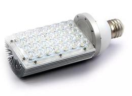 Wholesale House Station - Free Shipping LED corn lights E27 E40 base 28W street light canopy light HID CFL replacement aluminum housing AC85-265V LLFA