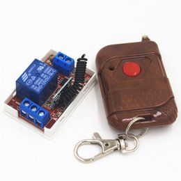 Wholesale 433mhz Transmitter Receiver Module - Wholesale- 433Mhz Universal Wireless Remote Control Switch DC 12V 10A 1CH relay Receiver Module and RF Transmitter Remote Controls
