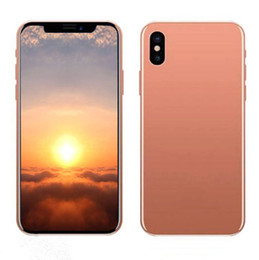 Wholesale Goophone Unlock - Sealed box goophone iX 5.5inch android smartphone MTK6580 quad core 1G 8G face ID 3G WCDMA GPS show fake 4G LTE256GB unlocked cell phones