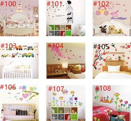 Wholesale Plant Lights For Sale - hot sale Mix Order Wholesale Removable Wall Stickers Home Decals Kids Room Wall Stickers Nursery Wall Decor 50x70cm