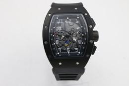 2019 quarzleder braune farbe frauenuhr hochwertige man luxury 011 watch Marke schwarzer Gummi Fall 43mm Automatische Maschinenuhr