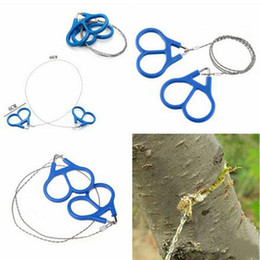 Wholesale Steel Chain Saw Wholesalers - Outdoor Useful Stainless Steel Wire saw Chain Rope Saw Ring Scroll Emergency Travel camping Hiking Hunting Survival Tools