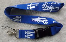 Wholesale Detachable Keychain Lanyard - 10 pcs Football Team LA Dodgers Logo Lanyard, Detachable Keychain, ID Badge,cell phone holder straps