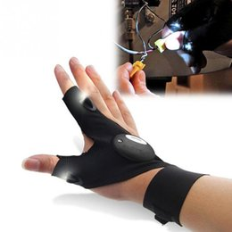 Wholesale Multifunctional Gloves - Flashlight Glove with LED Light Portable Fashional Multifunctional Energic and Sport Cycling Glove Light Free Shipping