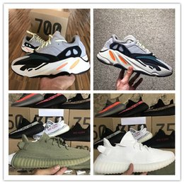 Wholesale Lace Christmas Gifts - Orignal 2017 Boost 700 Kanye West Wave Runner Boost 350 V2 Sneakers Authentic Sply 350 Running shoes Christmas gift size 36-46