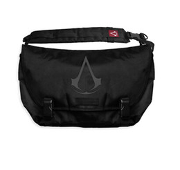 Wholesale Cosplay Costumes Open - Wholesale-Assassins Creed Messenger Bag School Shoulder Bag Cosplay Best Gift Assassins creed costume Fashion bag men Free shipping