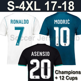 Wholesale Champions Football - 2018 camiseta Real Madrid jerseys Champions league RONALDO ASENSIO MODRIC 17 18 soccer jersey BALE SERGIO RAMOS KROOS ISCO Football Shirt