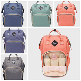 Wholesale Diaper Wipes - Mommy Backpack Nappies Bags Fashion Mother Backpack Diaper Maternity Backpacks Large Volume Outdoor Travel Bags Organizer 9 color