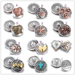 Wholesale Press Snap Buttons - Various Noosa Ginger Snap Chunks Gold Center Heart Starfish Lock Buttons Snap jewelry Black Press Buttons fit DIY 18 20MM Snap Jewelry