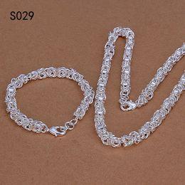 Wholesale cheap bracelets china - Hot same price sterling silver jewelry sets,cheap fashion 925 silver Necklace Bracelet jewelry set GTS3 factory direct sale