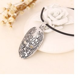 Wholesale Death Eater - Death Eater necklace Death Eater mask Knights of Walpurgis vintage pendant jewelry for men and women wholesale WA1750