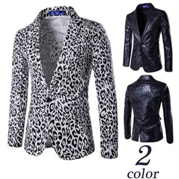 Wholesale Korean Blazers - 2017 Korean version of the European and American style personality a buttoned suit leopard printed suit dress with the best dress