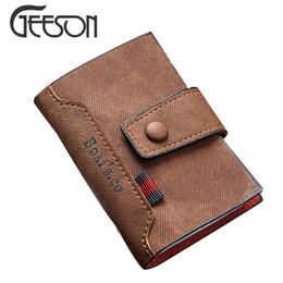 Wholesale Retro Leather Wallets For Men - 2016 Retro Men's Hasp Designer Card Holder For Cards High QualIty PU Leather Cash Holder Organizer Car Documents Cover KW039