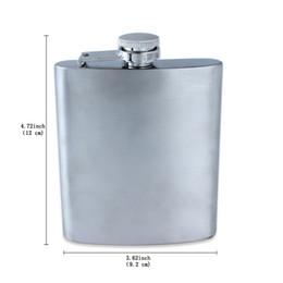 Wholesale Hip Flask 7oz - Fine Stainless Steel Hip Flasks Flagon Kettle Srinks 7OZ Portable For Men Hip Flasks Pocket Hot Sale