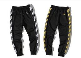 Wholesale C Pants - New Off White Cotton Trousers Popular Brand c o Virgil Abloh Men's Casual Sweat Pants Virgirl Abolh Black Pants Free Shipping