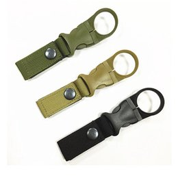 bouteilles d'eau mousqueton Promotion Vente en gros New Outdoor Tactical Nylon Webbing Buckle Hook Bouteille d'eau Holder Clip EDC Climb Carabiner Belt Backpack Hanger Camp